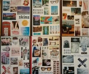 cool, notebook, and photos image