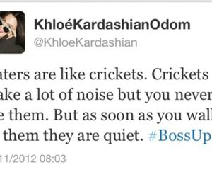 haters, quote, and khloe kardashian image