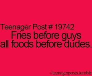 food, guy, and fries image