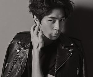 black and white, black leather, and esquire image