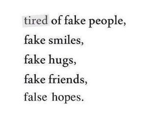 fake, tired, and people image