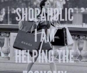 shopaholic, shopping, and economy image