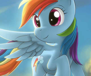 rainbowdash, MLP, and my little pony image