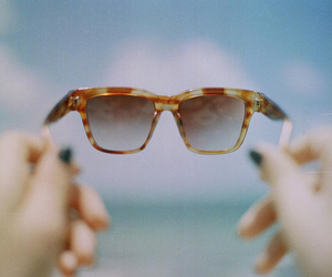 glasses, summer, and sunglasses image