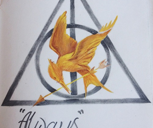 always, harry potter, and the hunger games image