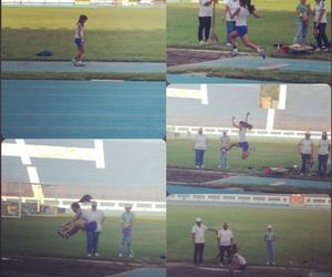 athletics, jump, and longjump image