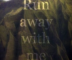 look, mountains, and run image