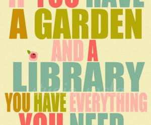 garden, library, and book image