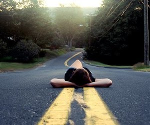 girl, road, and street image