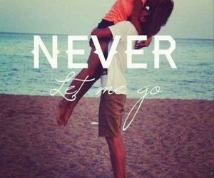love, couple, and never image