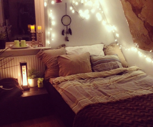 candles, cosy, and dream catcher image