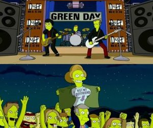 green day, the simpsons, and funny image