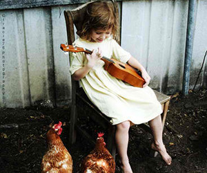 girl, music, and child image