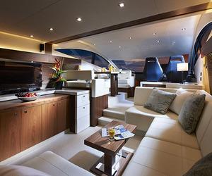 luxury, yacht, and interior image