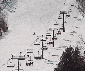 chairlift, Skiing, and spring image