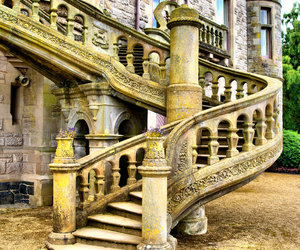 medieval, romantic, and stair image