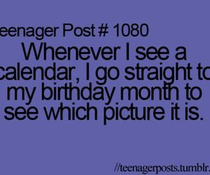 teenager post, funny, and calendar image