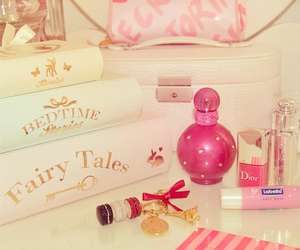 pink, girly, and book image
