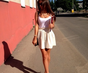 girl, legs, and outfit image