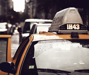 taxi, car, and new york image