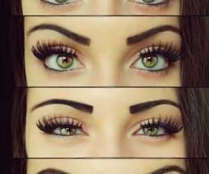 eyes, makeup, and green image