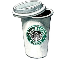 starbucks, coffee, and overlay image