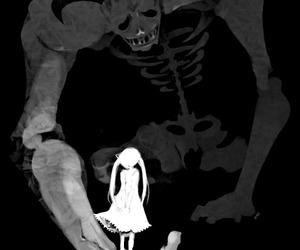 girl, anime, and monster image