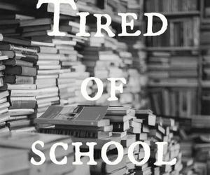 school, tired, and book image