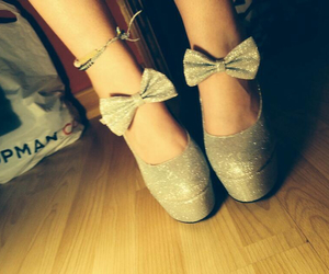 bow, glitter, and heels image