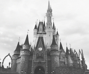 black and white and disney image