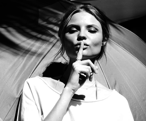 model, Magdalena Frackowiak, and black and white image