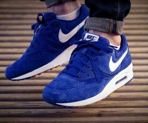 air max, blue, and nike image