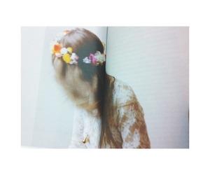 boho, flowers, and hair image