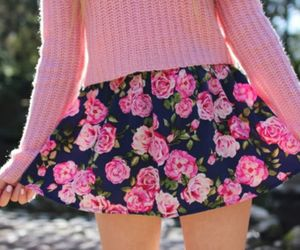fashion, rose, and skirt image