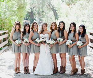 beautiful, country wedding, and cowboy boots image