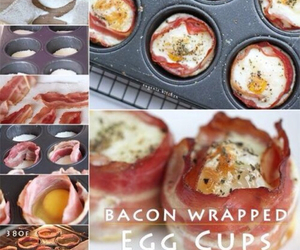 food, bacon, and diy image