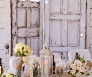 antique, doors, and flowers image