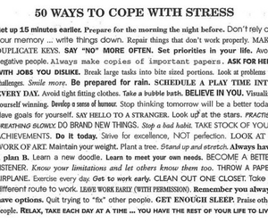 stress, quote, and cope image