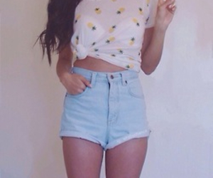 pineapple, outfit, and shorts image