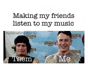 listen, music, and friends image
