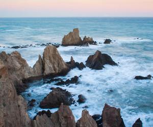 sea, ocean, and rocks image