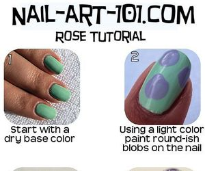 nails, rose, and tutorial image