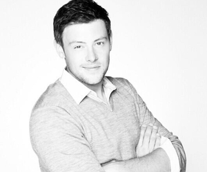 glee, handsome, and cory monteith image