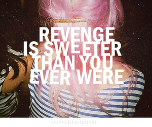 revenge, pink, and quote image