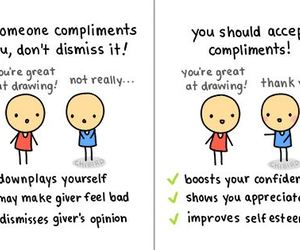 cute, compliments, and quote image