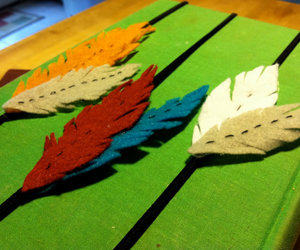 accessories, etsy, and feathers image