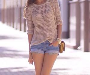 fashion, shorts, and fashionista image