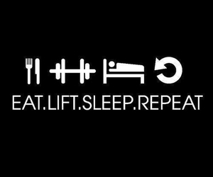 lift, sleep, and eat image