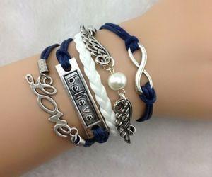 love, believe, and bracelet image