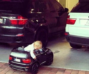car, bmw, and baby image